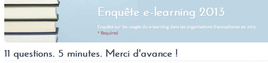 Enquête e-learning 2013