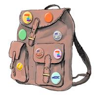 Reste-t-il une place pour un badge sur votre sac à dos ?